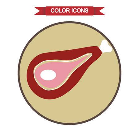 piece: A piece of meat icon