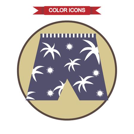 shorts: Beach shorts icon Illustration