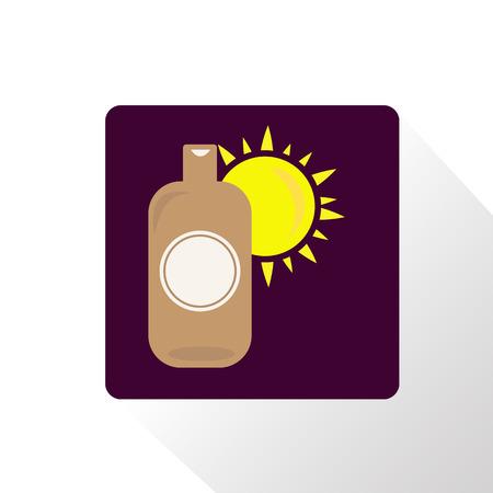 suntan cream: Suntan cream icon