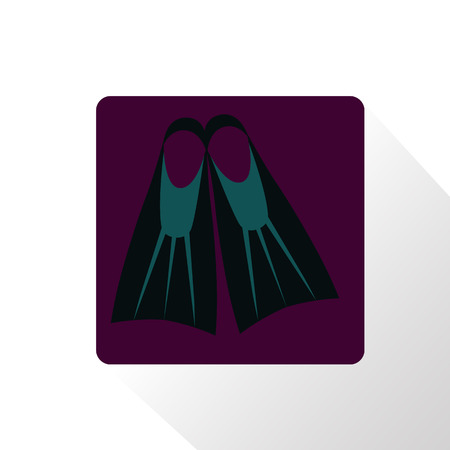 flippers: Flippers icono Vectores