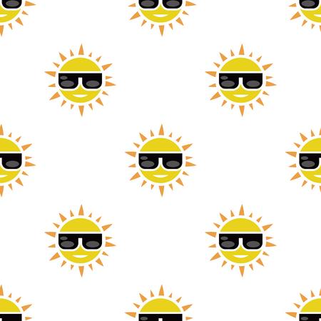sunglasses recreation: Sun with sunglasses icon