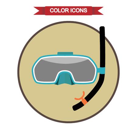 dive trip: Mask for diving icon Illustration