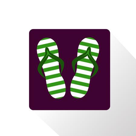 flip flops: Summer flip flops icon