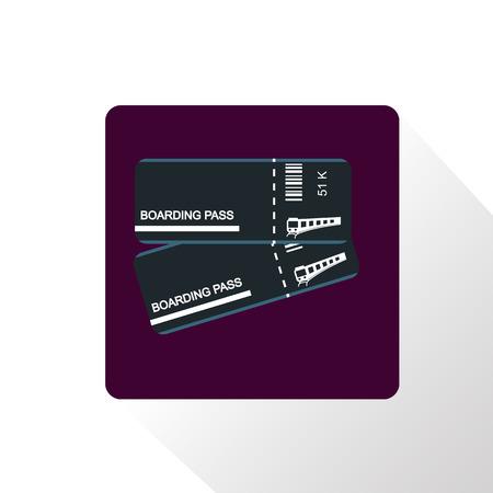 boarding: Train boarding pass icon