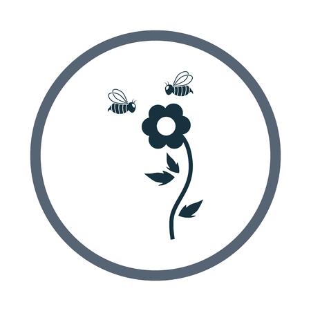 pollination: Flower pollination icon