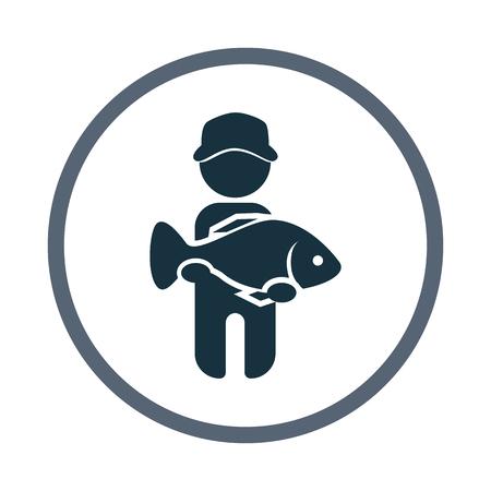 coger: Pescador captura icono de peces grandes