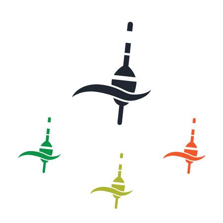 fishing float: Fishing float icon Illustration
