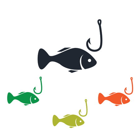 the hook: Fish and hook icon