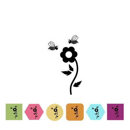 pollen: Flower pollination icon