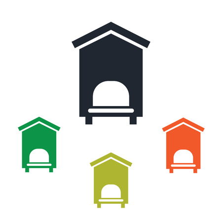 bee house: Bee house icon Illustration