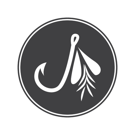 the hook: Fishing hook icon