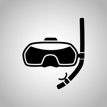 dive trip: Diving mask icon Illustration