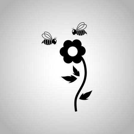 Flower pollination icon