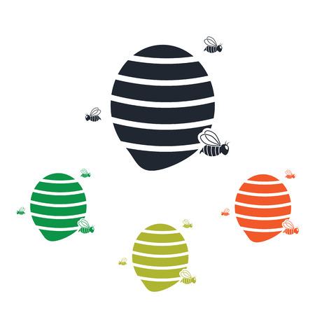 hive: Bee hive icon Illustration