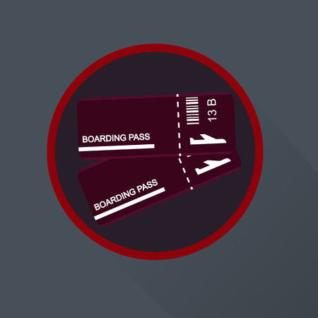 boarding: Plain boarding pass icon Illustration
