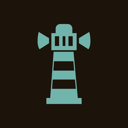 beacon: Sea beacon icon
