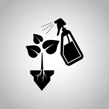 raíz de planta: Rociar el icono de la planta