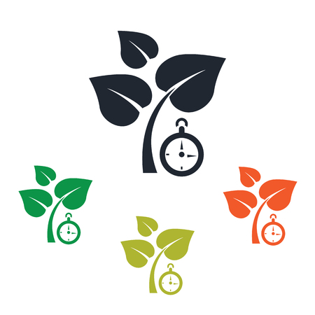growing plant: Growing plant icon Illustration