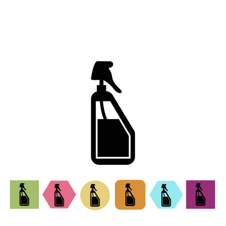 hydrate: Bottle for spray the water icon Illustration