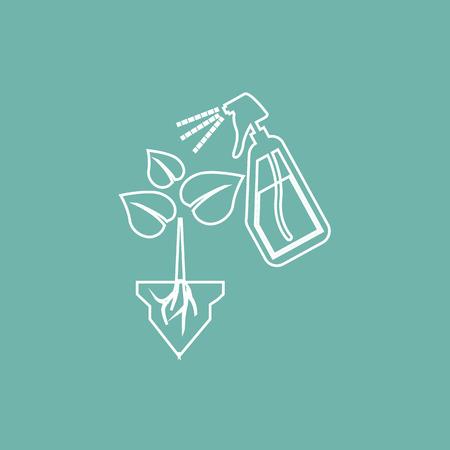 spraying: Spraying the plant icon