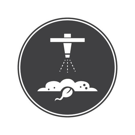 installation: Watering installation icon Illustration