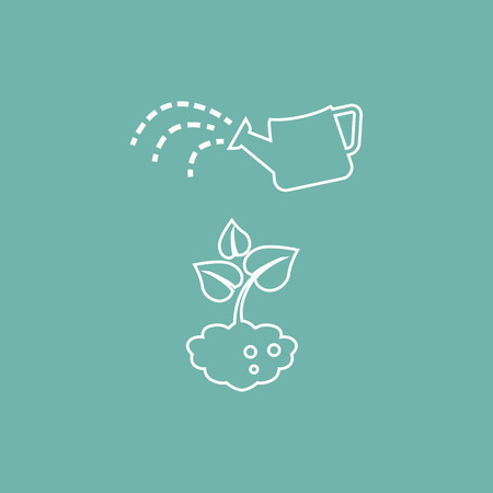 watering plant: Watering plant icon