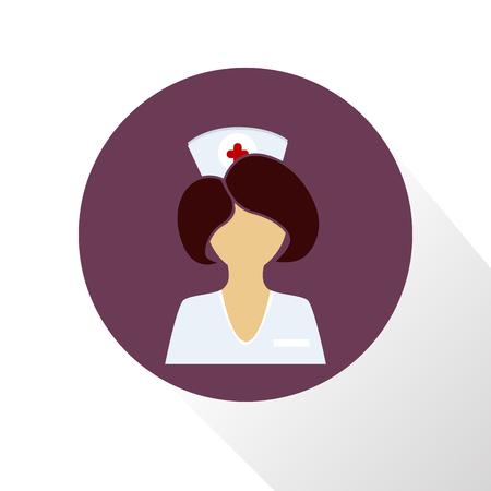 Nurse color icon Иллюстрация