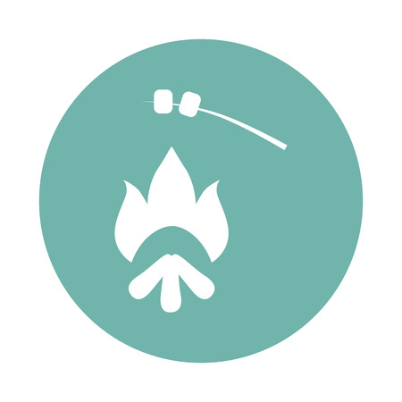 warmth: Prepearing food on the fire icon