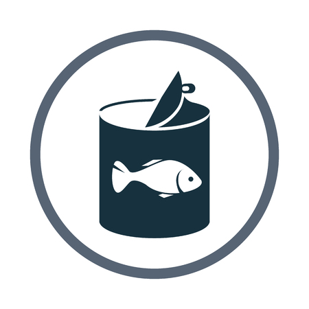 food: Fish canned food icon