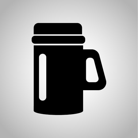 drink tools: Thermocup icon Illustration