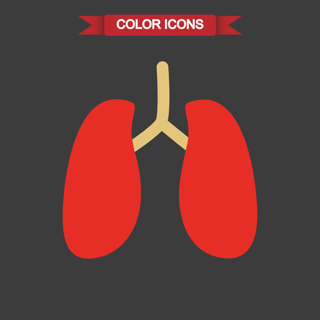 signos vitales: llungs humanos icono de color