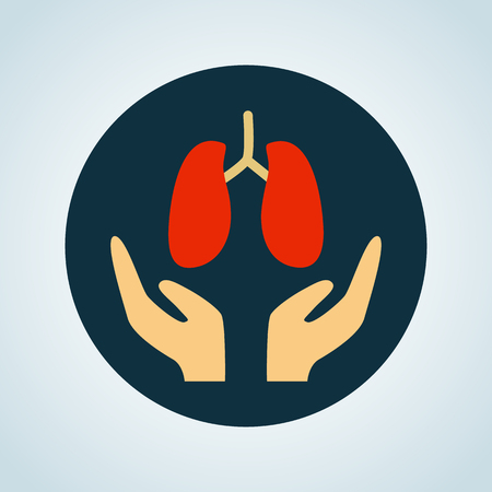 Lungs care color icon