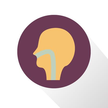 throat: Human throat color icon