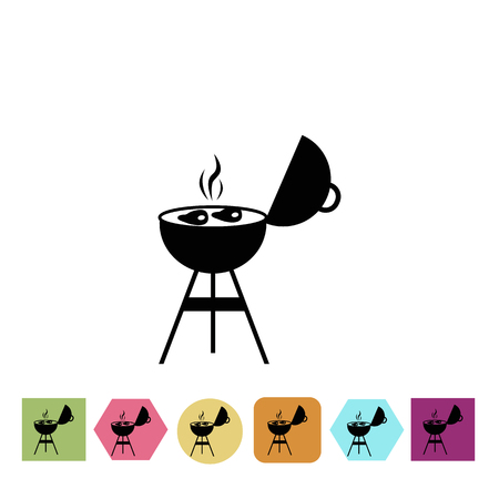 meat grill: Meat grill icon Illustration