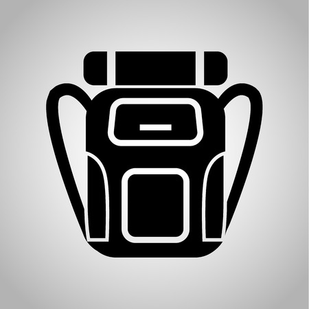 Travel backpack icon