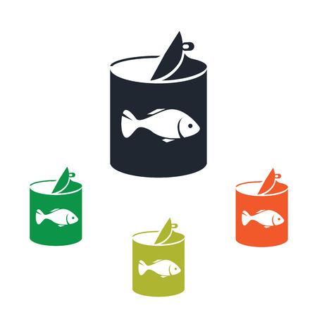 Fish icono de comida enlatada Foto de archivo - 50342827