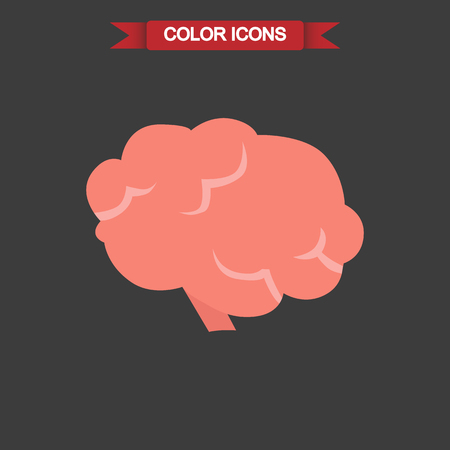 vital: Human brain color icon