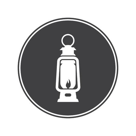 kerosene lamp: Kerosene lamp icon Illustration