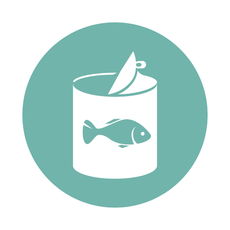 Fish canned food icon