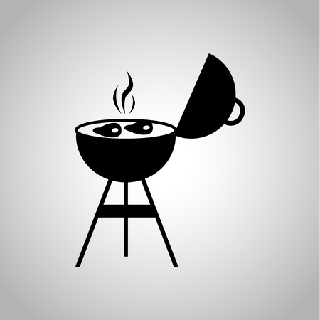 grating: Meat grill icon Illustration