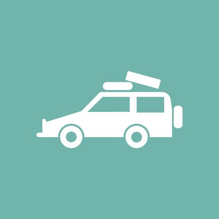 car: car with luggage icon