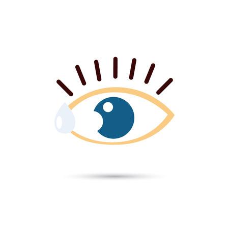 eyelid: Eye drops color icon