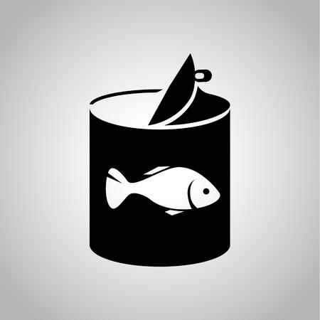 魚缶詰食品アイコン