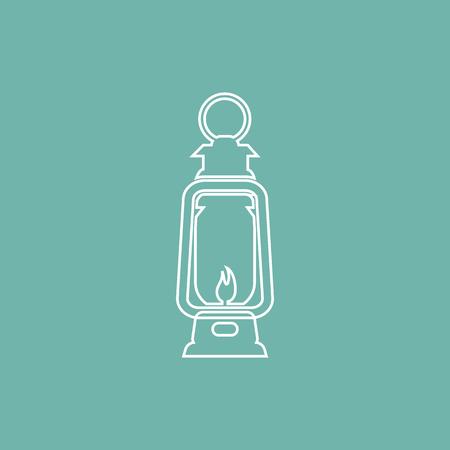 kerosene: Kerosene lamp icon Illustration