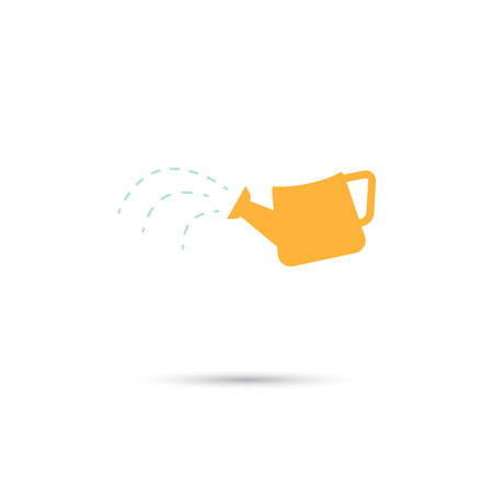 watering can: Color illustration of watering can