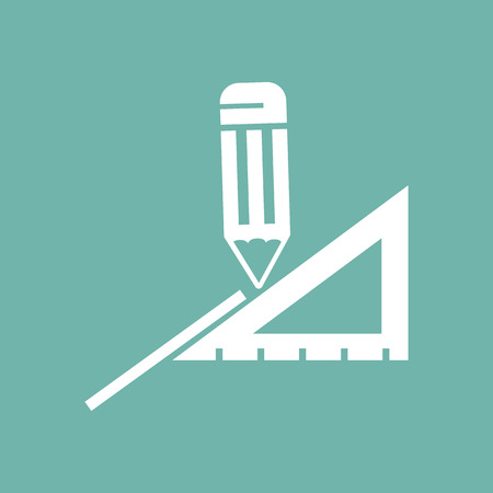 rule: Illustration of pencil and rule icons Illustration