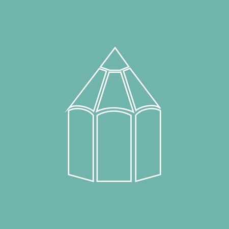 the icon: Pencil icon Illustration