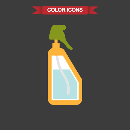 hydrate: Color illustration of spray bottle