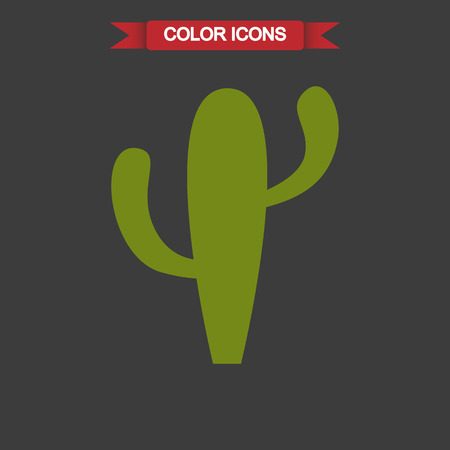 desert cactus: Color illustration of desert cactus