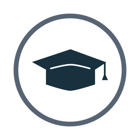 Icono graduado del sombrero